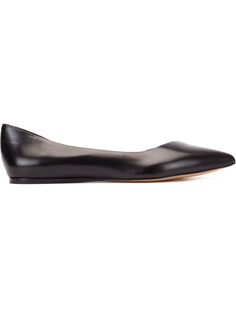 Vince Camuto Doriana Leather Ballet Flats In Black Lyst