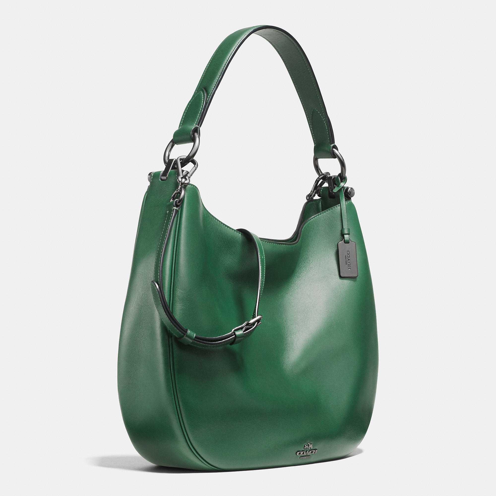 42271d88269 Lyst - COACH Nomad Hobo In Glovetanned Leather in Green