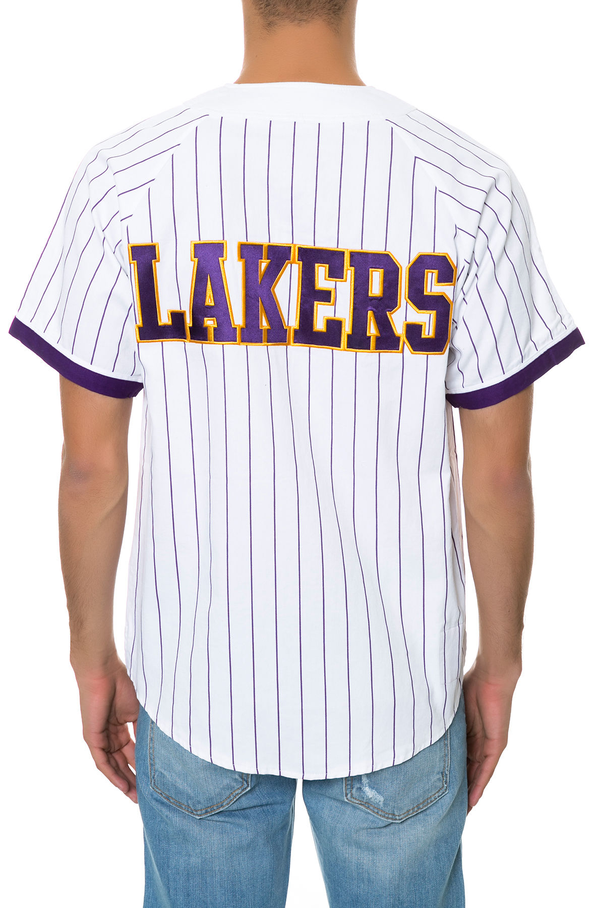 4d2e94b11 Lyst - Mitchell   Ness The Los Angeles Lakers Ss Buttondown Jersey ...