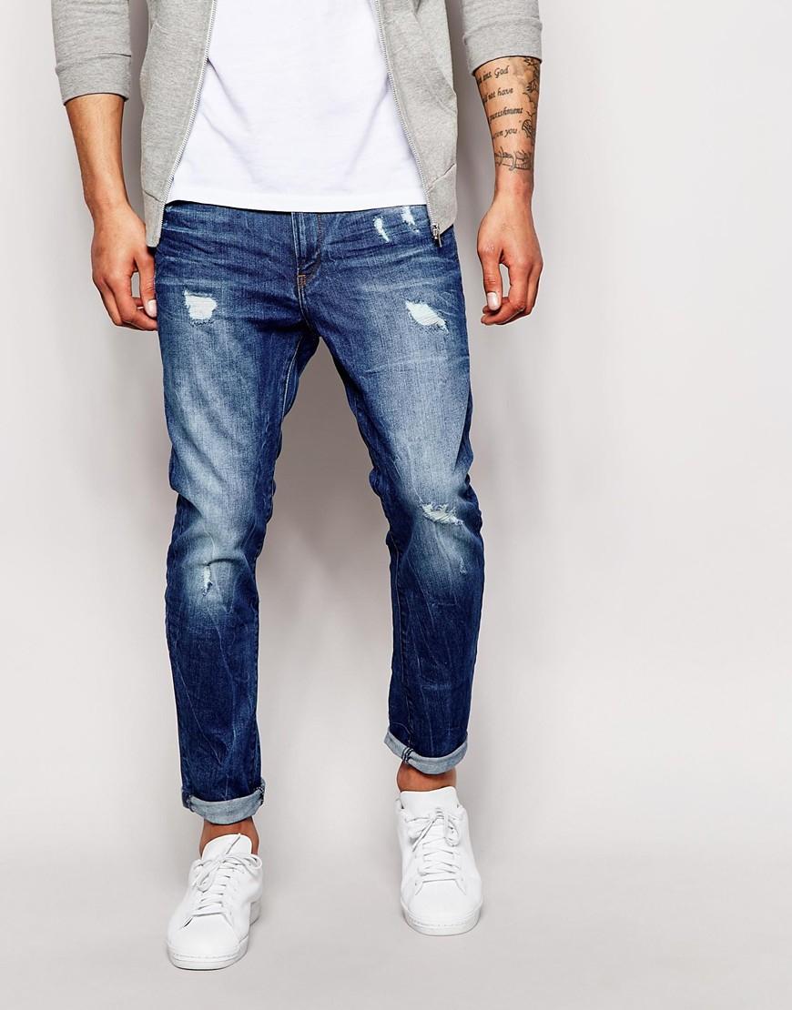79b5eb6f7e6 G-Star RAW Jeans Type C 3d Super Slim Light Aged Destroy in Blue for ...