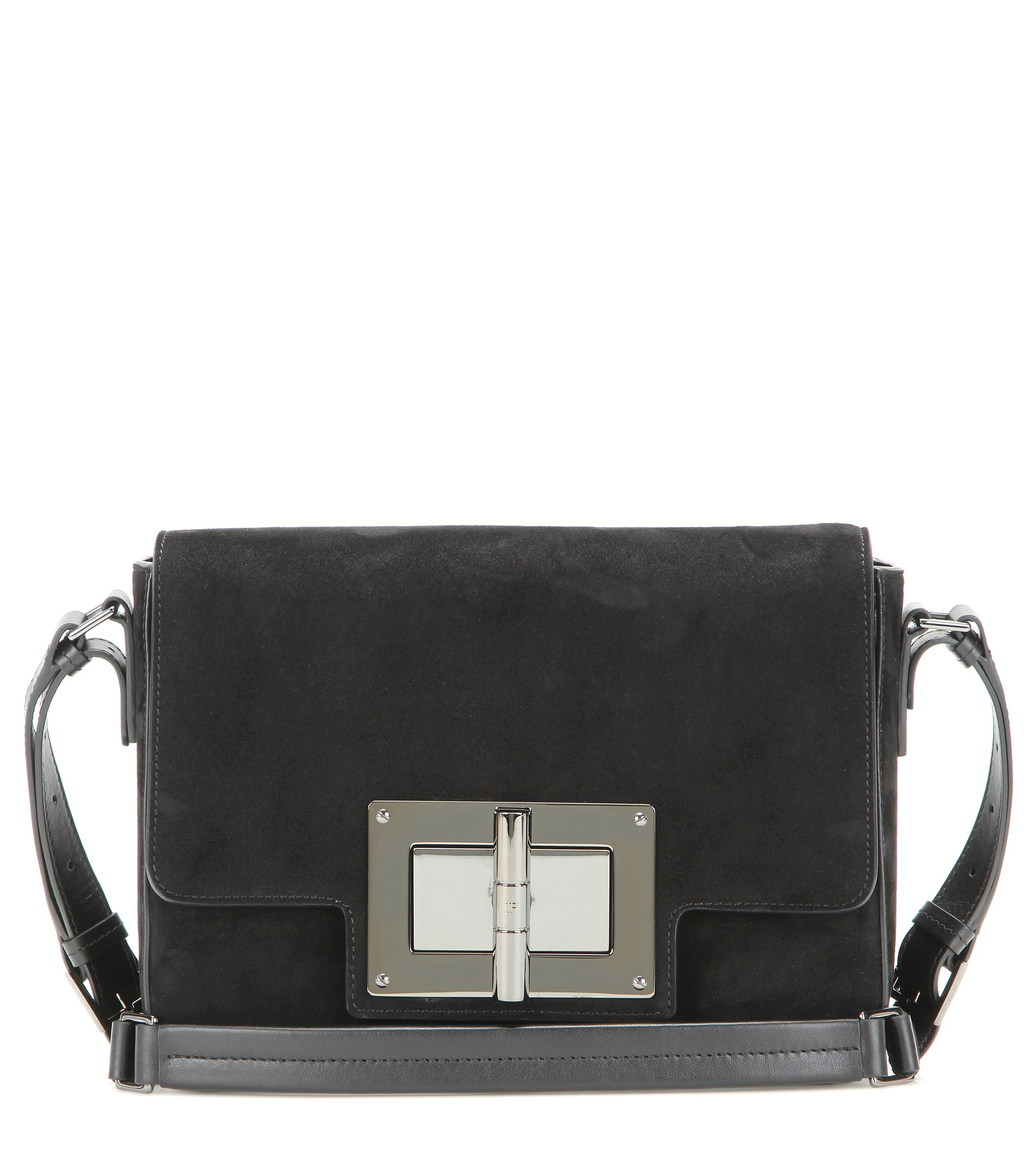 be902de2a Tom Ford Natalia Medium Suede Shoulder Bag in Black - Lyst