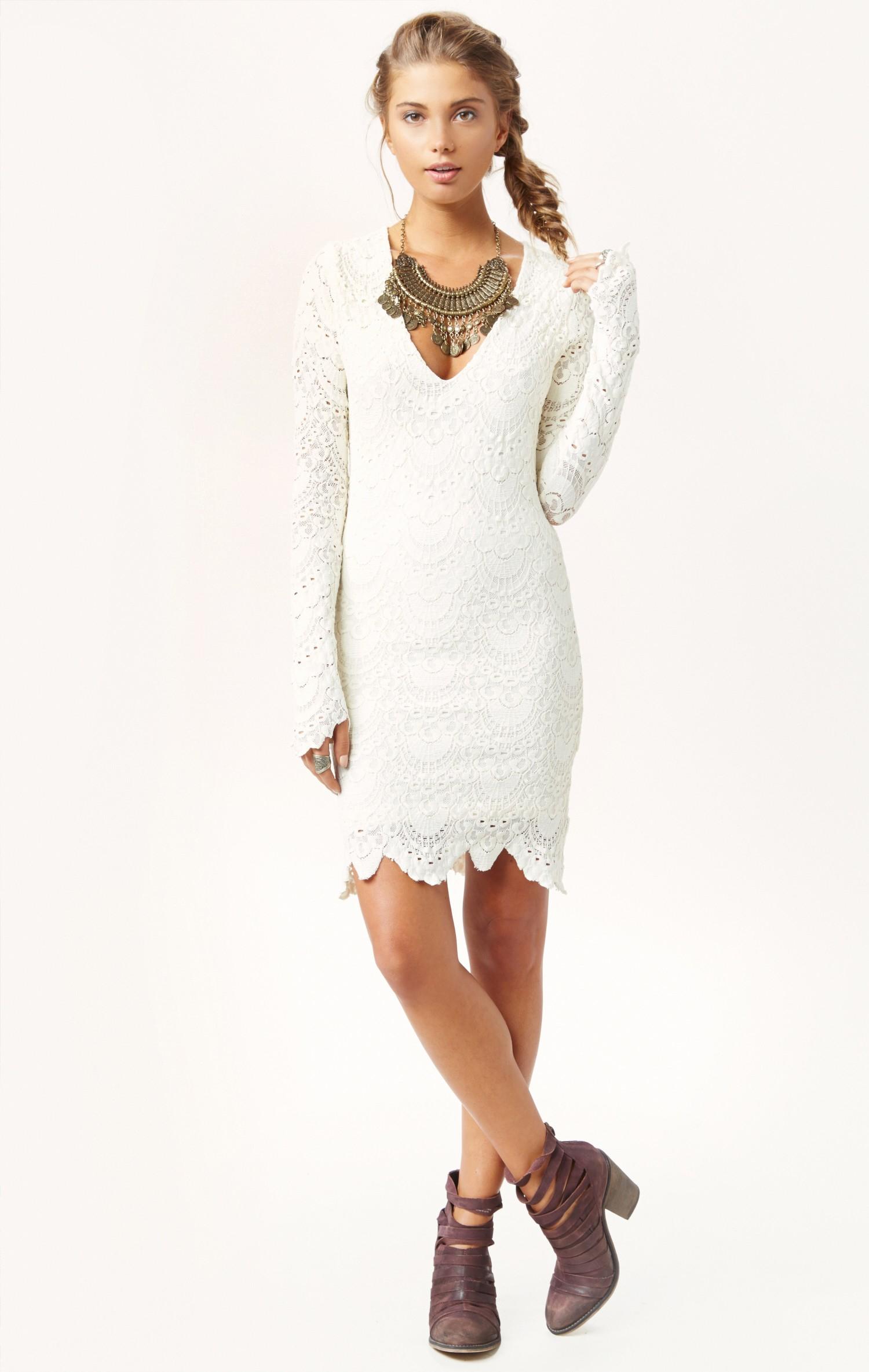 6f3e23bde6 Nightcap Long Sleeve Lace Dress White - Gomes Weine AG