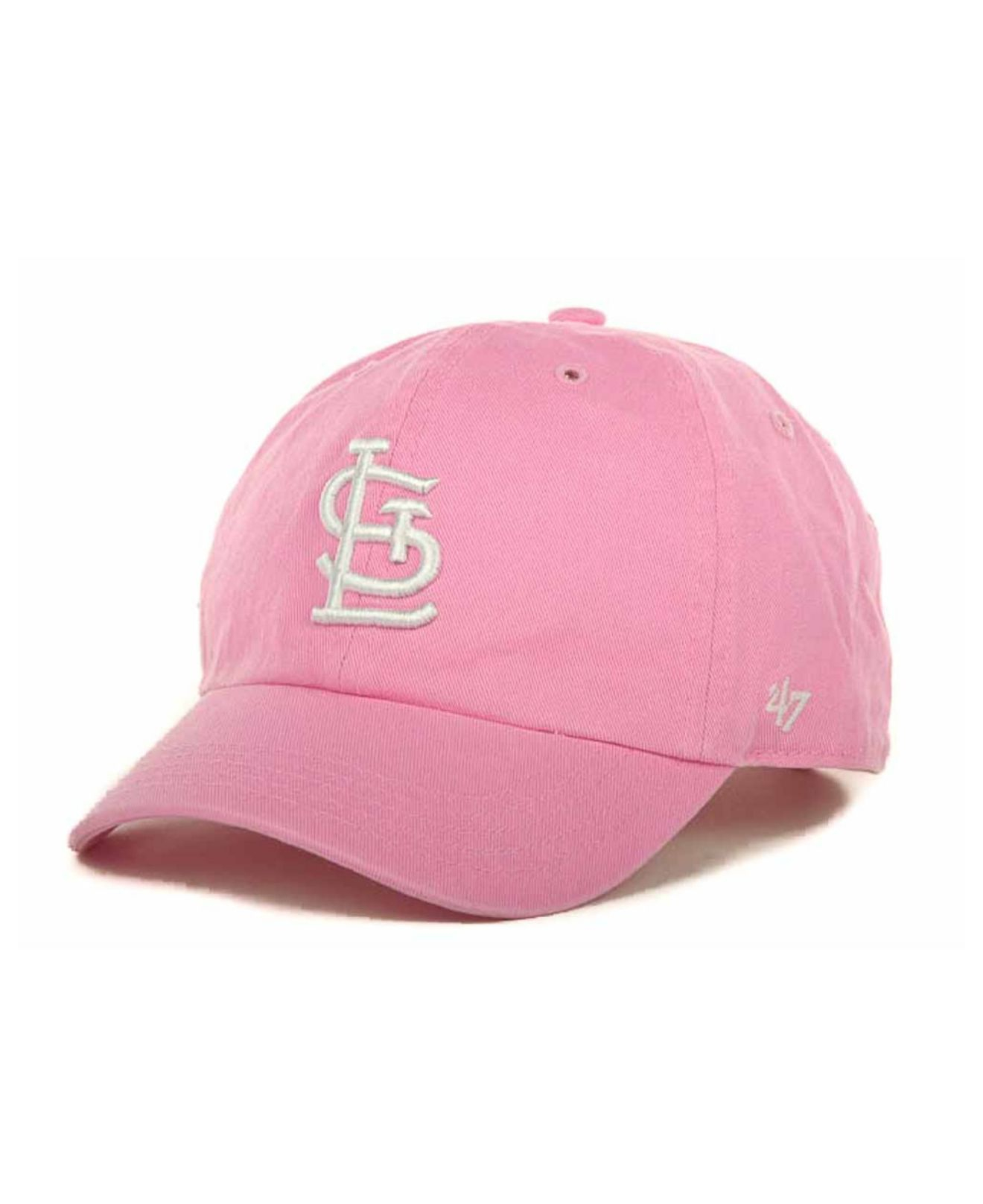 online store 8b256 23e55 ... shopping lyst 47 brand kids st. louis cardinals clean up cap in pink  for men
