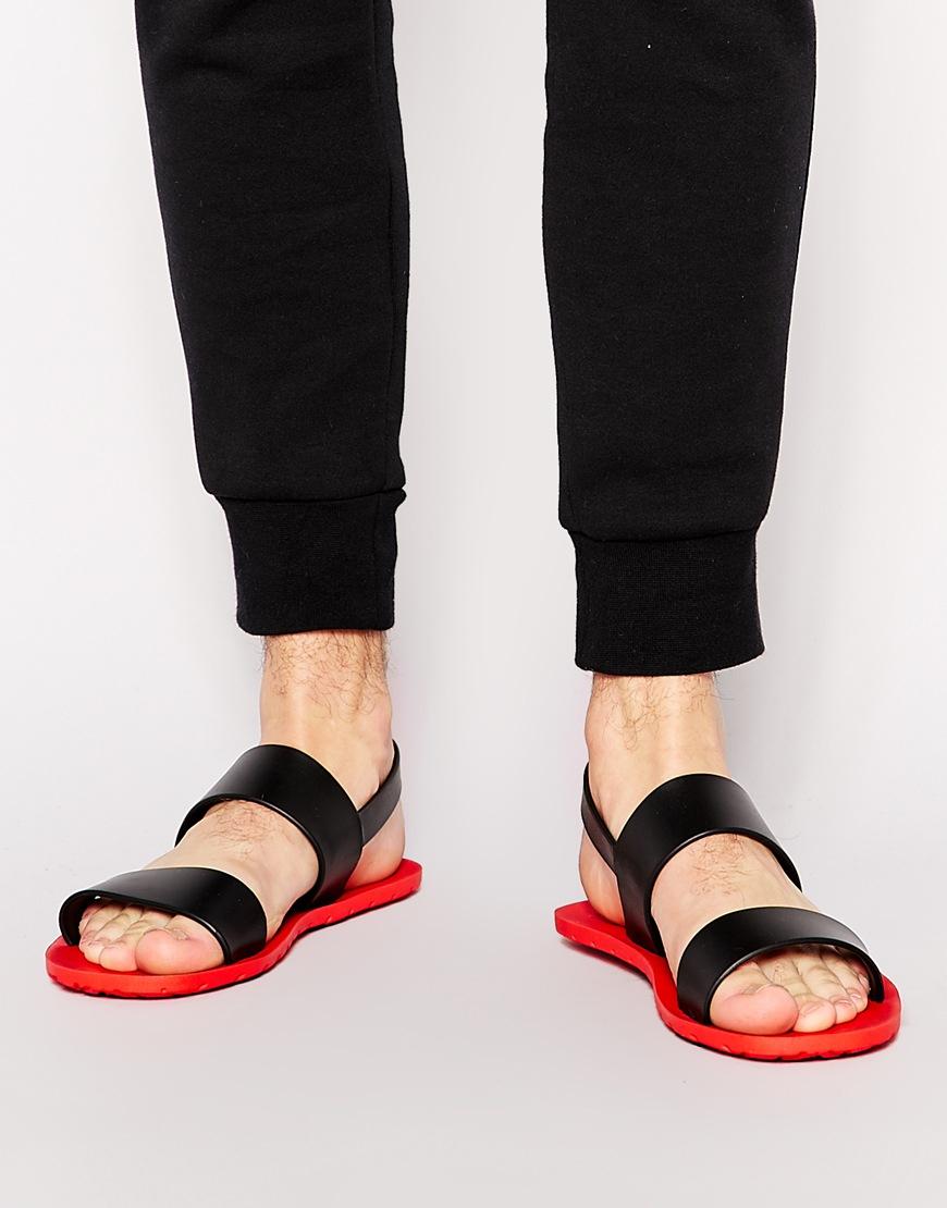 Lyst Aldo Legadoniel Rubber Sandals In Black For Men