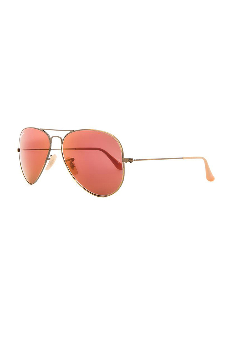 39a28a2aa ... where to buy lyst ray ban aviator flash lenses in metallic a6c0e 7c204