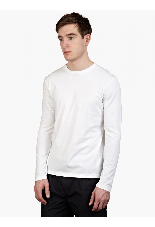 Jil sander men s white long sleeved cotton t shirt in for Jil sander mens shirt