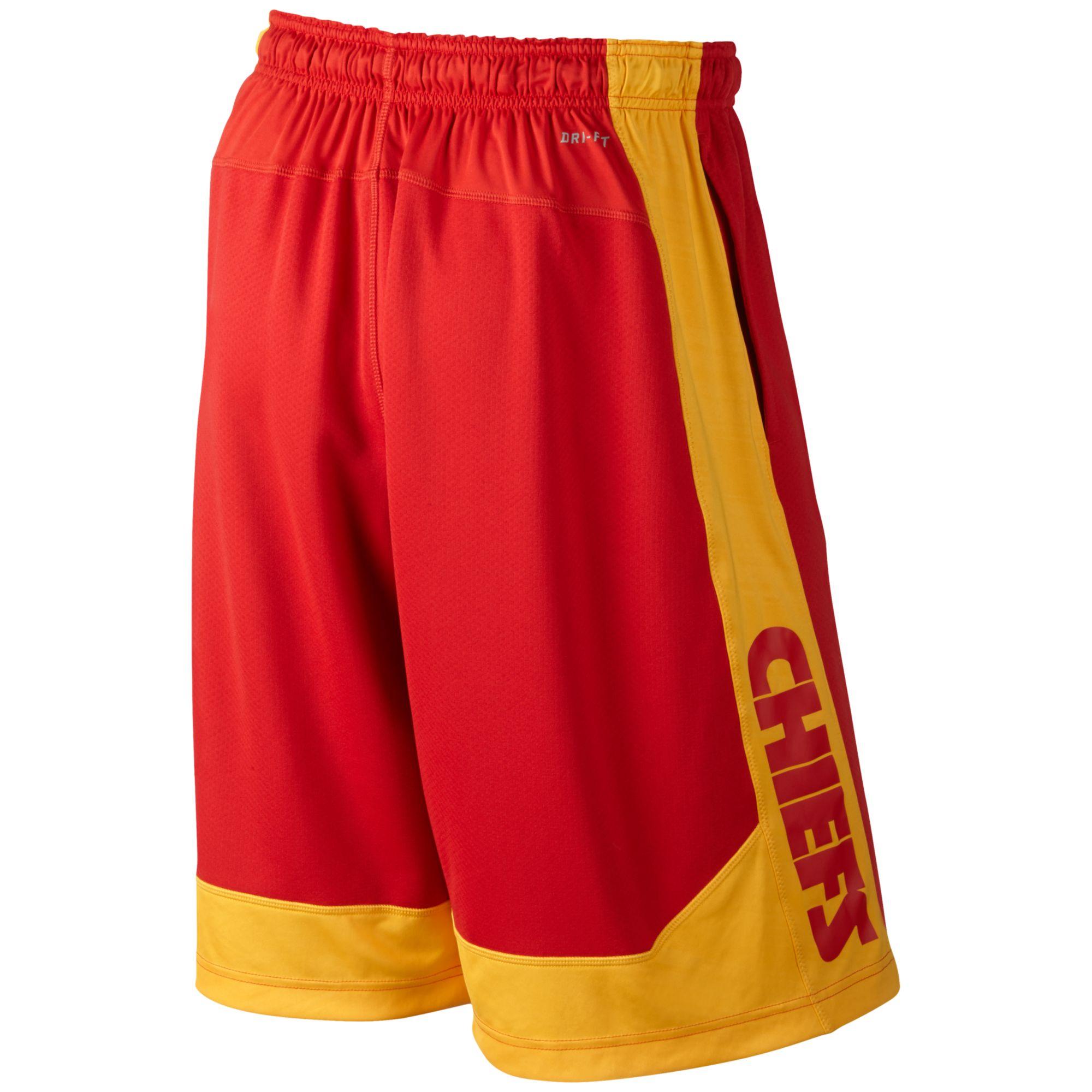 db29f78301d Lyst - Nike Mens Kansas City Chiefs Fly Xl Drifit Shorts in Red for Men