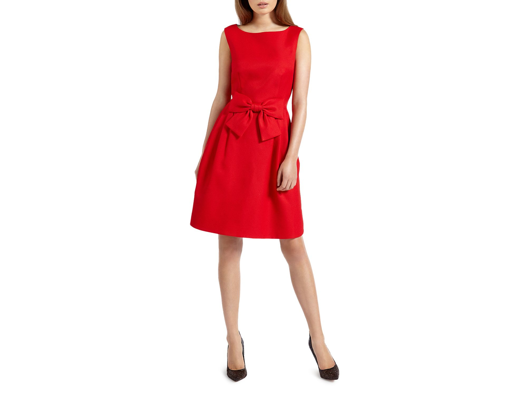 5b03c3d6de934 Lyst - Ted Baker Nuhad Bow Dress in Red
