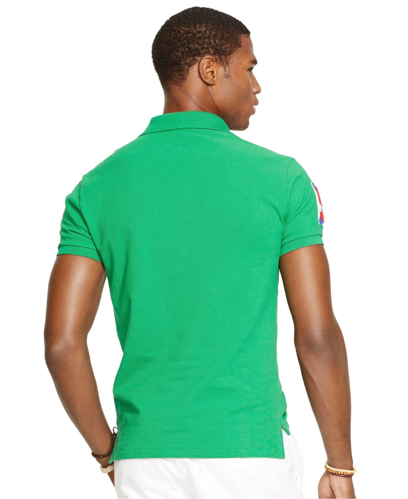 Polo ralph lauren Custom-Fit Yacht Club Mesh Polo in Green for Men | Lyst