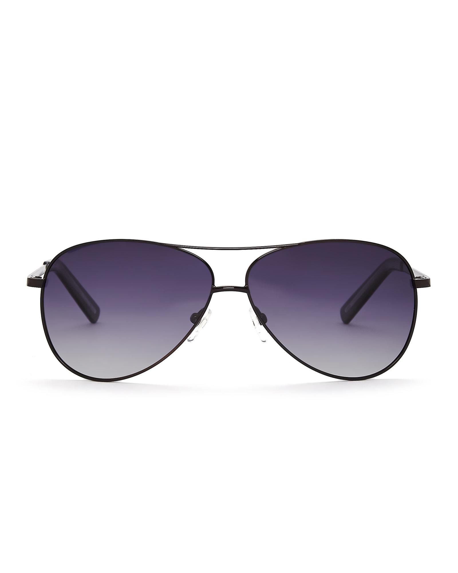 Cole Han Sunglasses  cole haan black c16135 aviator sunglasses in metallic lyst