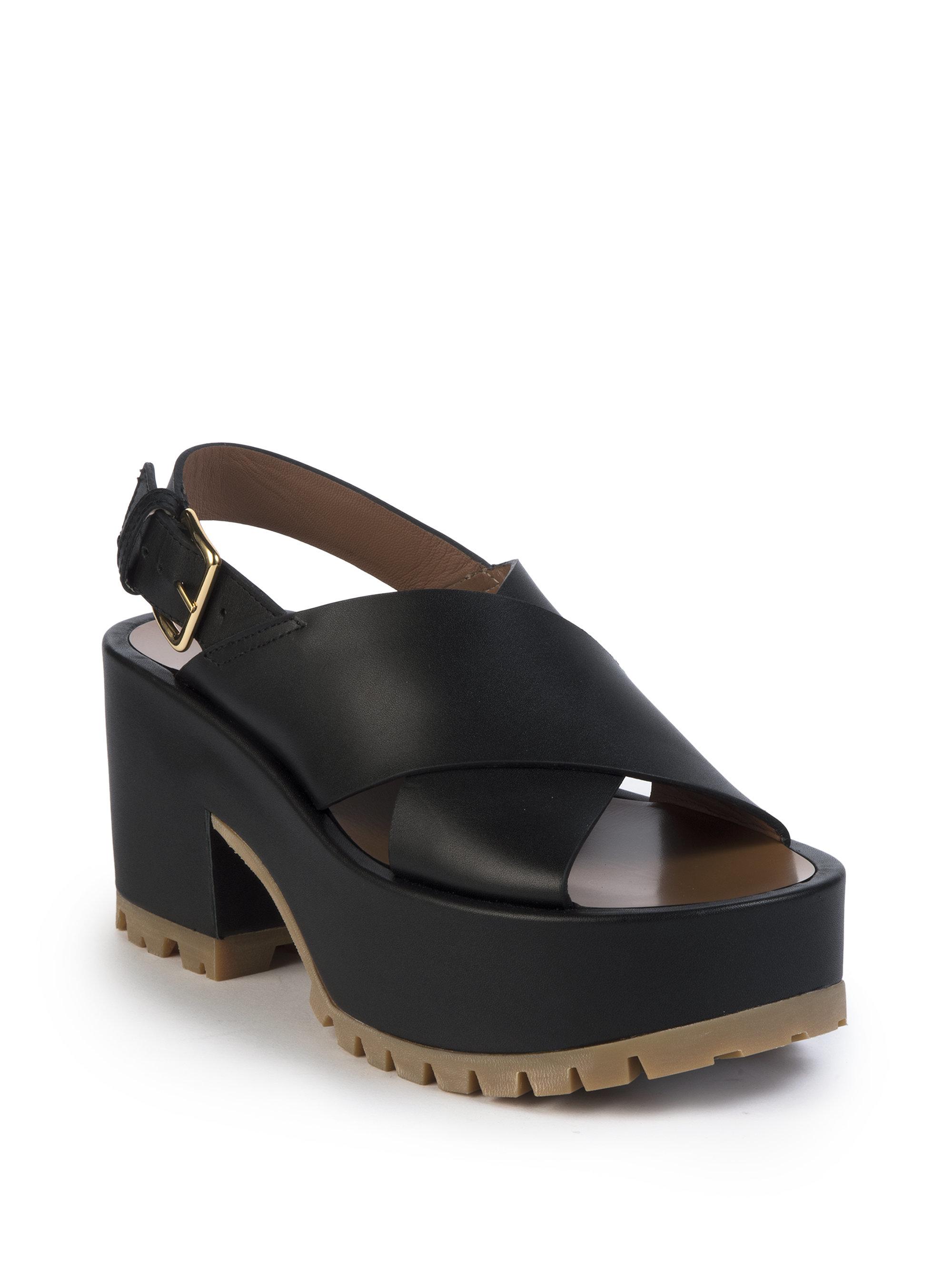 Marni Leather Platform Sandals Cheap Price Original Fashionable Cheap Price NOfTG7