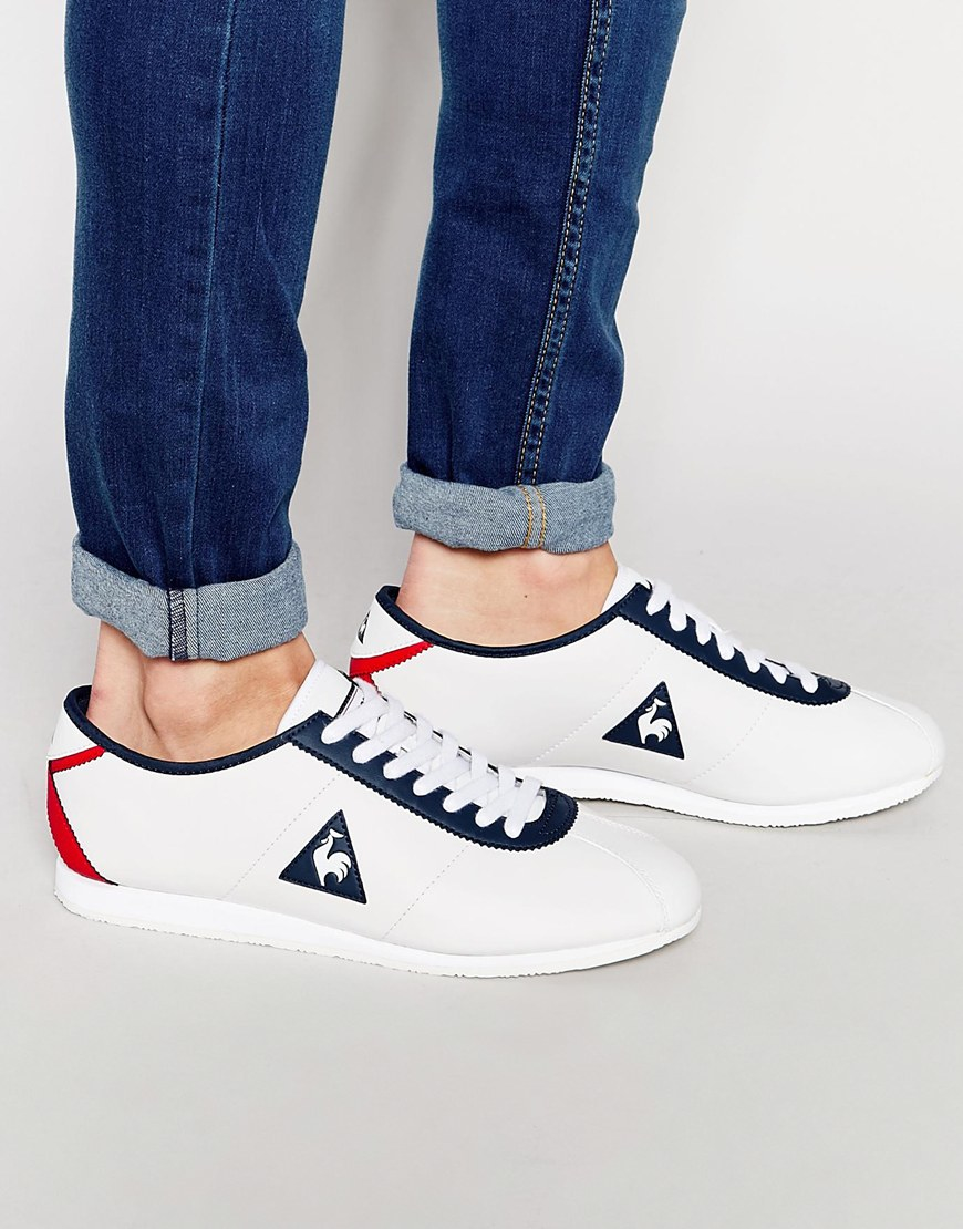 2cead21d3c6f Lyst - Le Coq Sportif Wendon Leather Trainers in White for Men