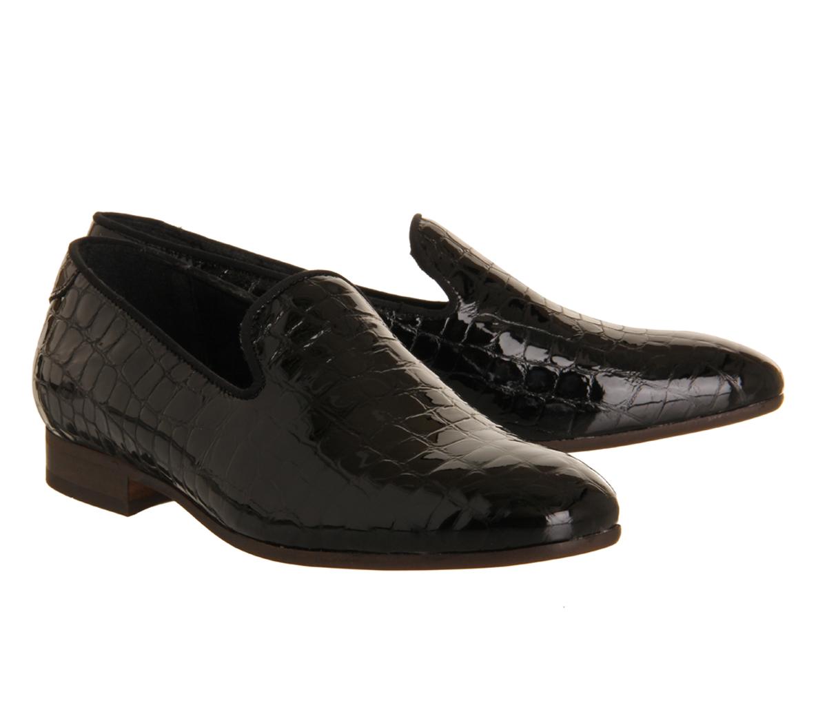 h by hudson rowan loafer in black for men lyst. Black Bedroom Furniture Sets. Home Design Ideas