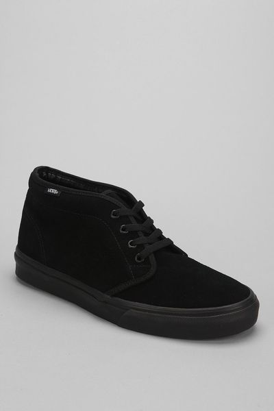 vans suede chukka boot in black for black multi lyst