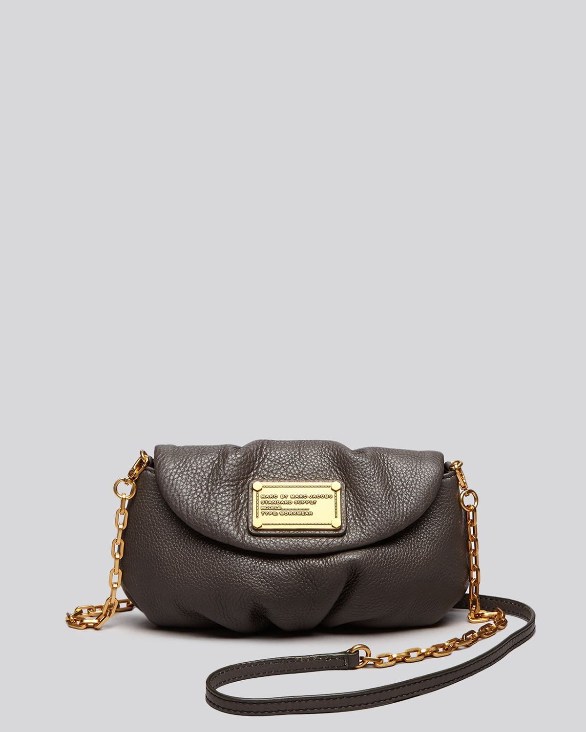 marc by marc jacobs crossbody classic q karlie in gray faded aluminum lyst. Black Bedroom Furniture Sets. Home Design Ideas