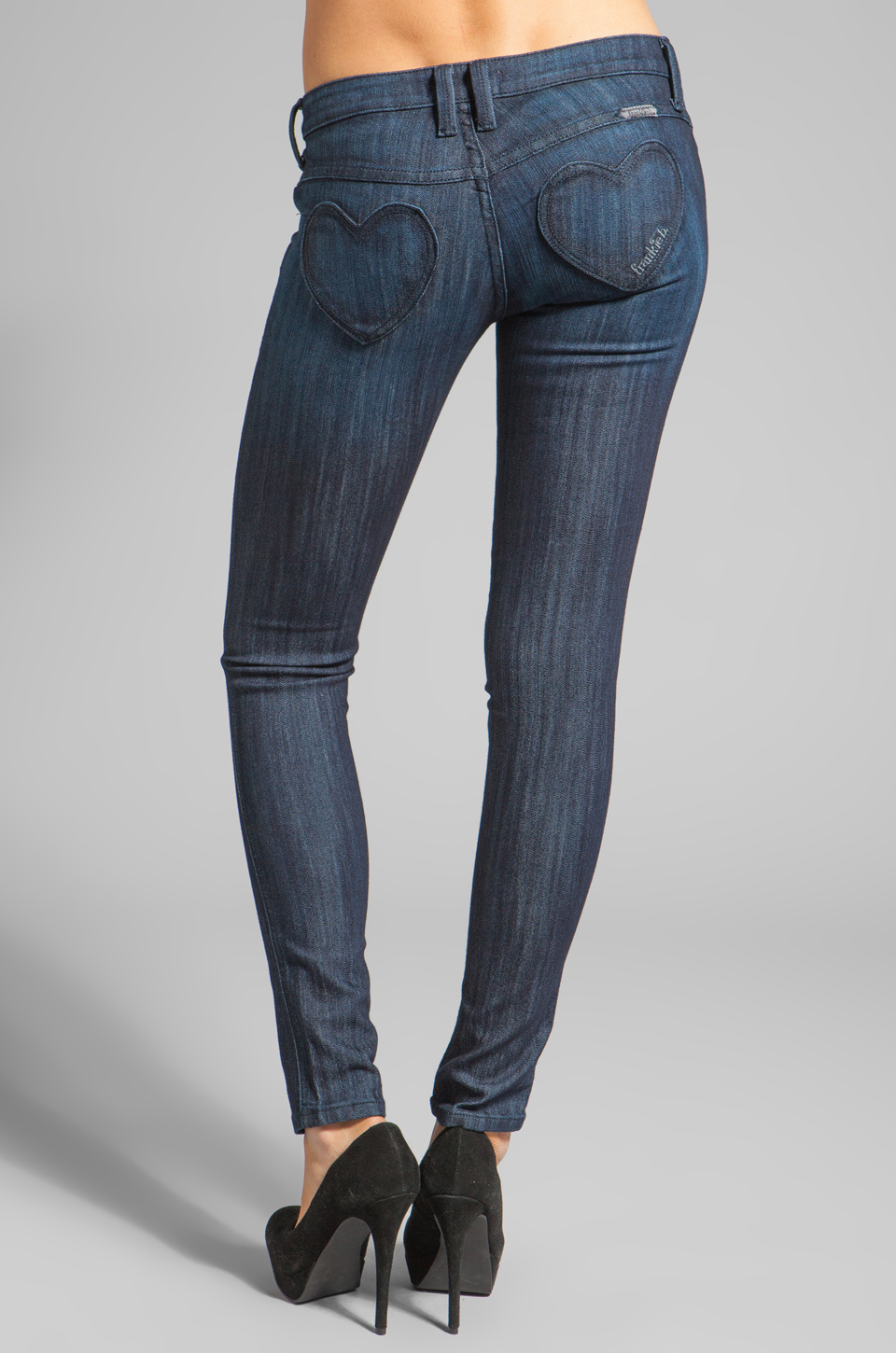 Frankie b. jeans Fb Mine Heart Pocket Skinny Jean in Blue | Lyst