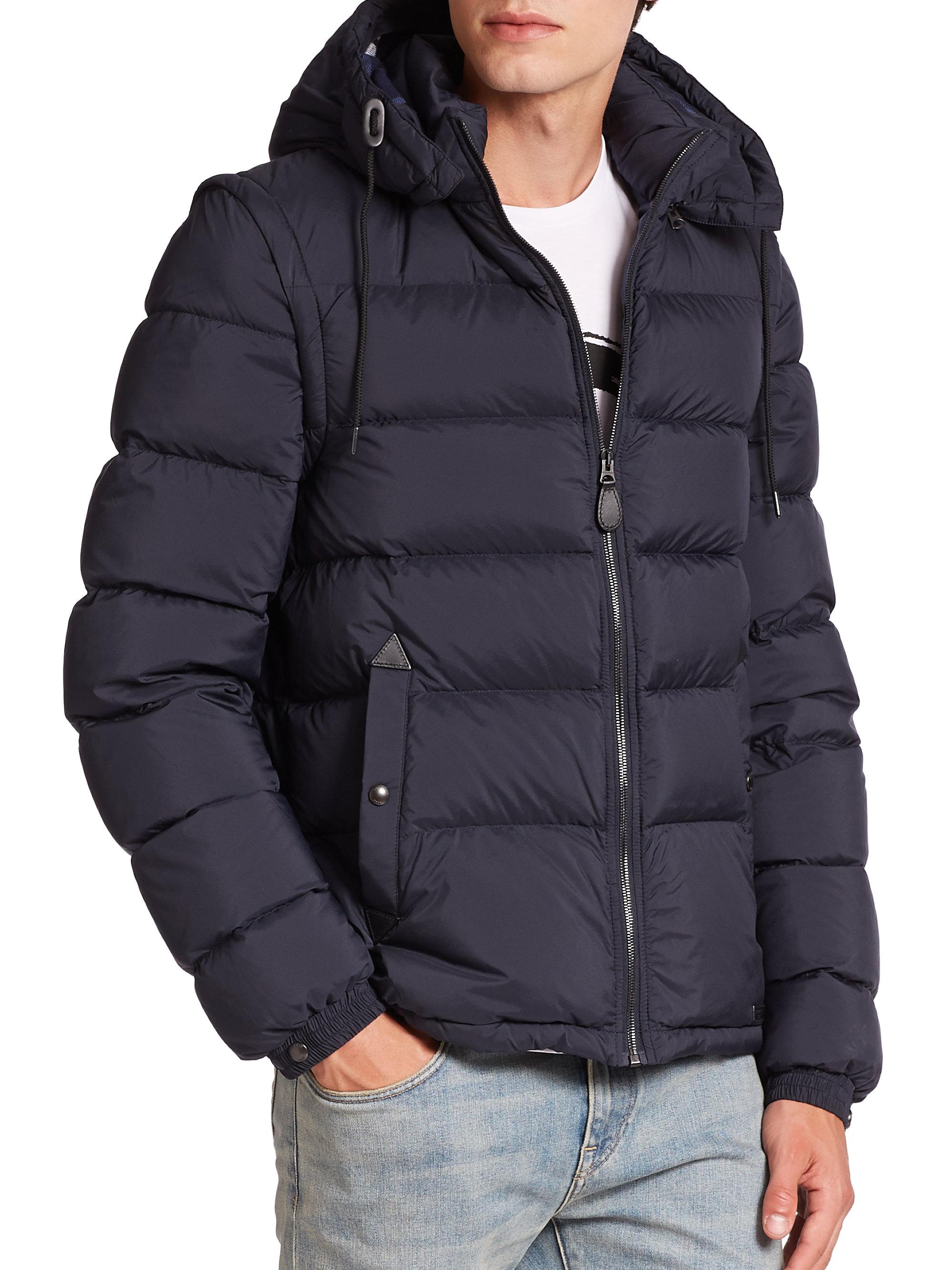 d507f07c47e Burberry Hooded Jacket Black