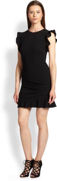 Emilio Pucci Black Side Ruffle Dress Emilio Pucci Ruffle Front