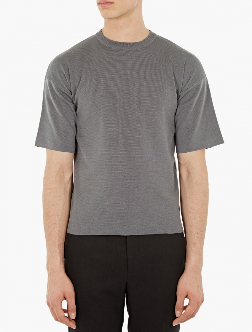 Jil Sander Heavy Cotton T Shirt In Gray For Men Lyst
