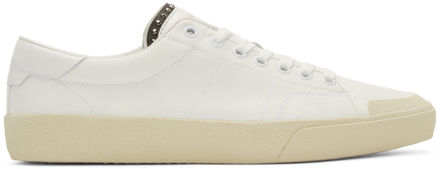 3d3dc24072e Saint Laurent White Court Classic Low-top Sneakers in White for Men ...