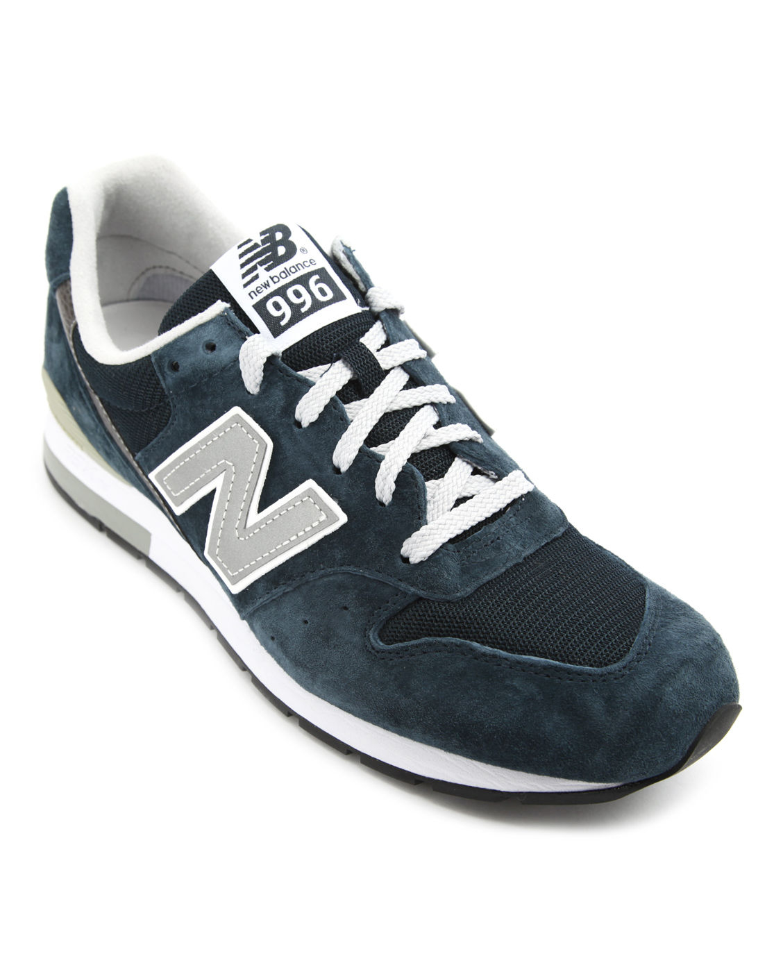 new balance mrl 996 navy suede sneakers in blue for men. Black Bedroom Furniture Sets. Home Design Ideas