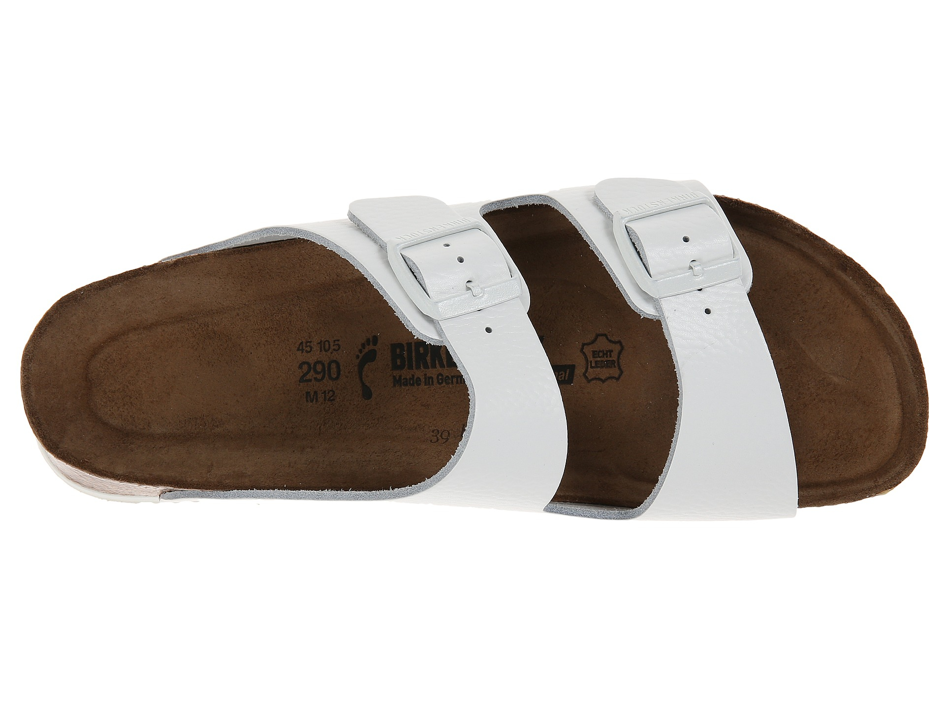 6854401a02c Lyst - Birkenstock Arizona Soft Footbed Super Grip in White