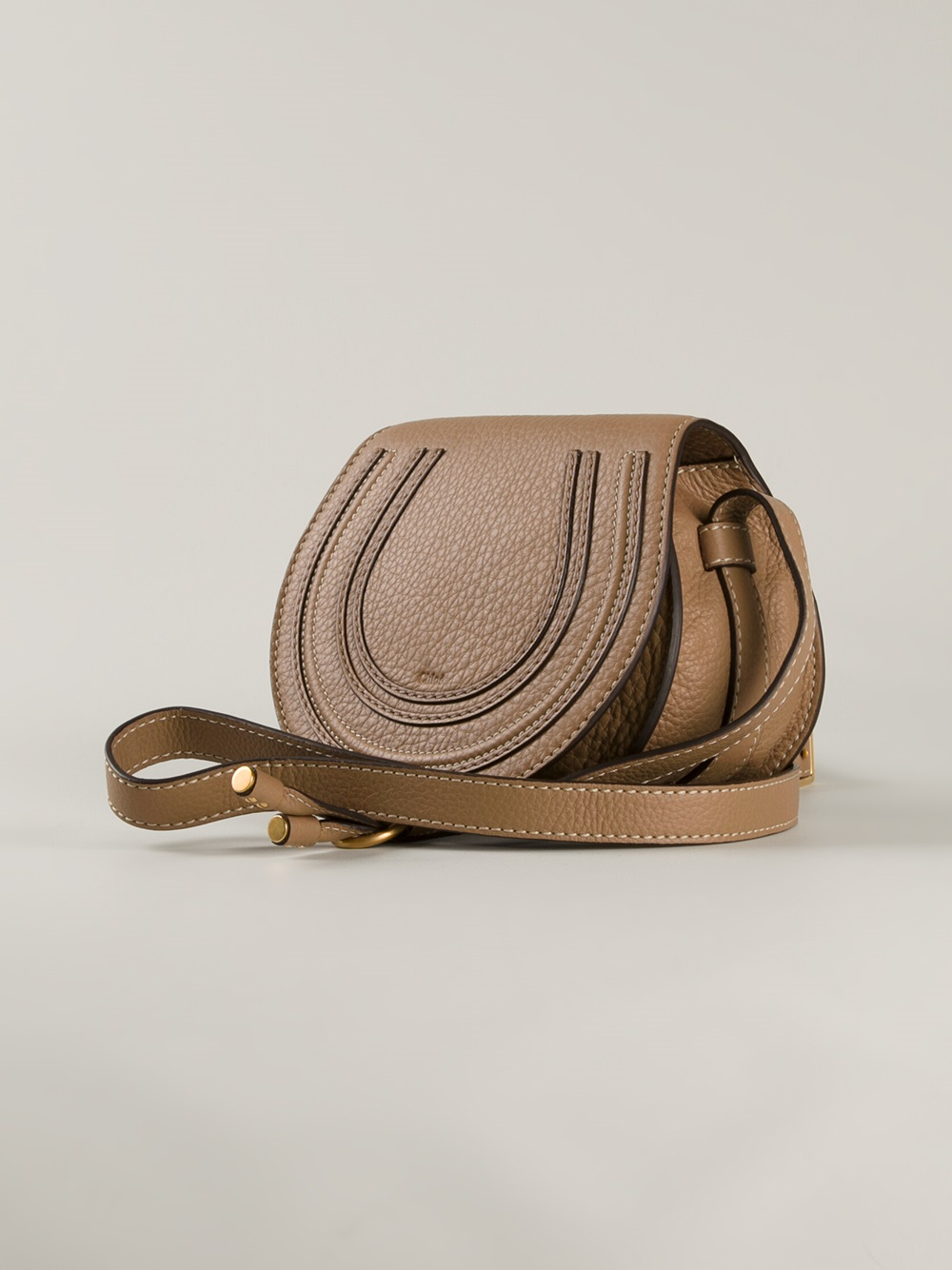 Chlo¨¦ Marcie Cross Body Bag in Beige (nude \u0026amp; neutrals) | Lyst