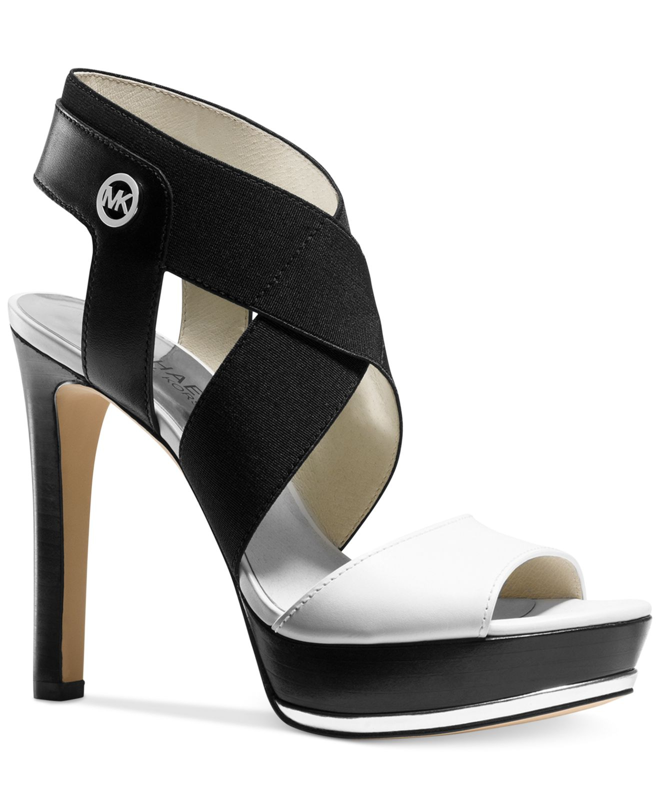 b2053e74ff09 Lyst - Michael Kors Michael Meadow Platform Sandals in White