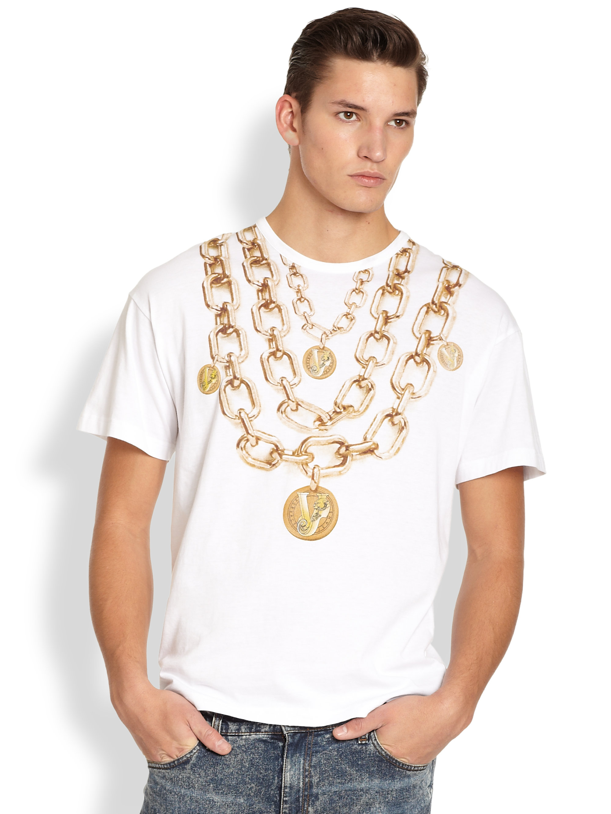 versace t shirt chain