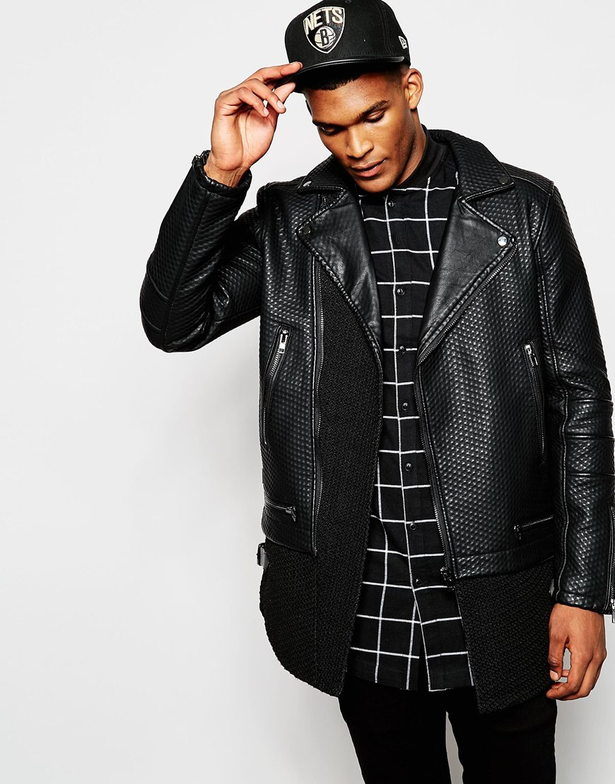 Biker Jacket In Black Borg - Black Black Kaviar Outlet Limited Edition Free Shipping Low Price Fee Shipping Clearance Best Wholesale Clearance Outlet Locations 8afp6PWC
