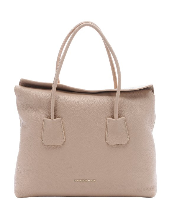 Burberry Light Nude Leather Medium  baynard  Tote Bag in Natural - Lyst 6ef1a715d2aac