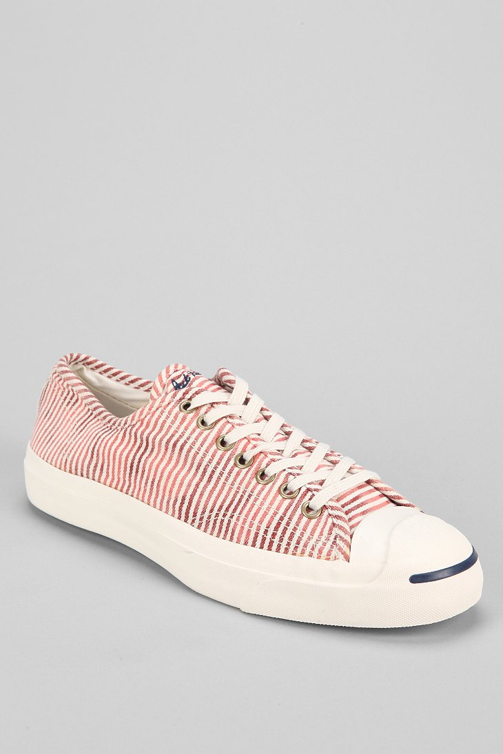 582ce7969dbb Lyst - Converse Jack Purcell Stripes Sneaker in Pink for Men