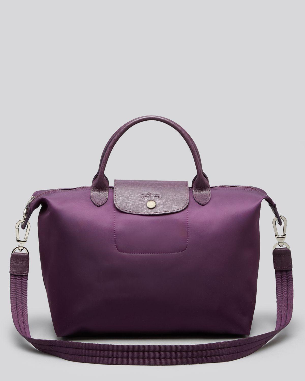 2014 New Portable Longchamp Le Pliage Travel Bags Purple