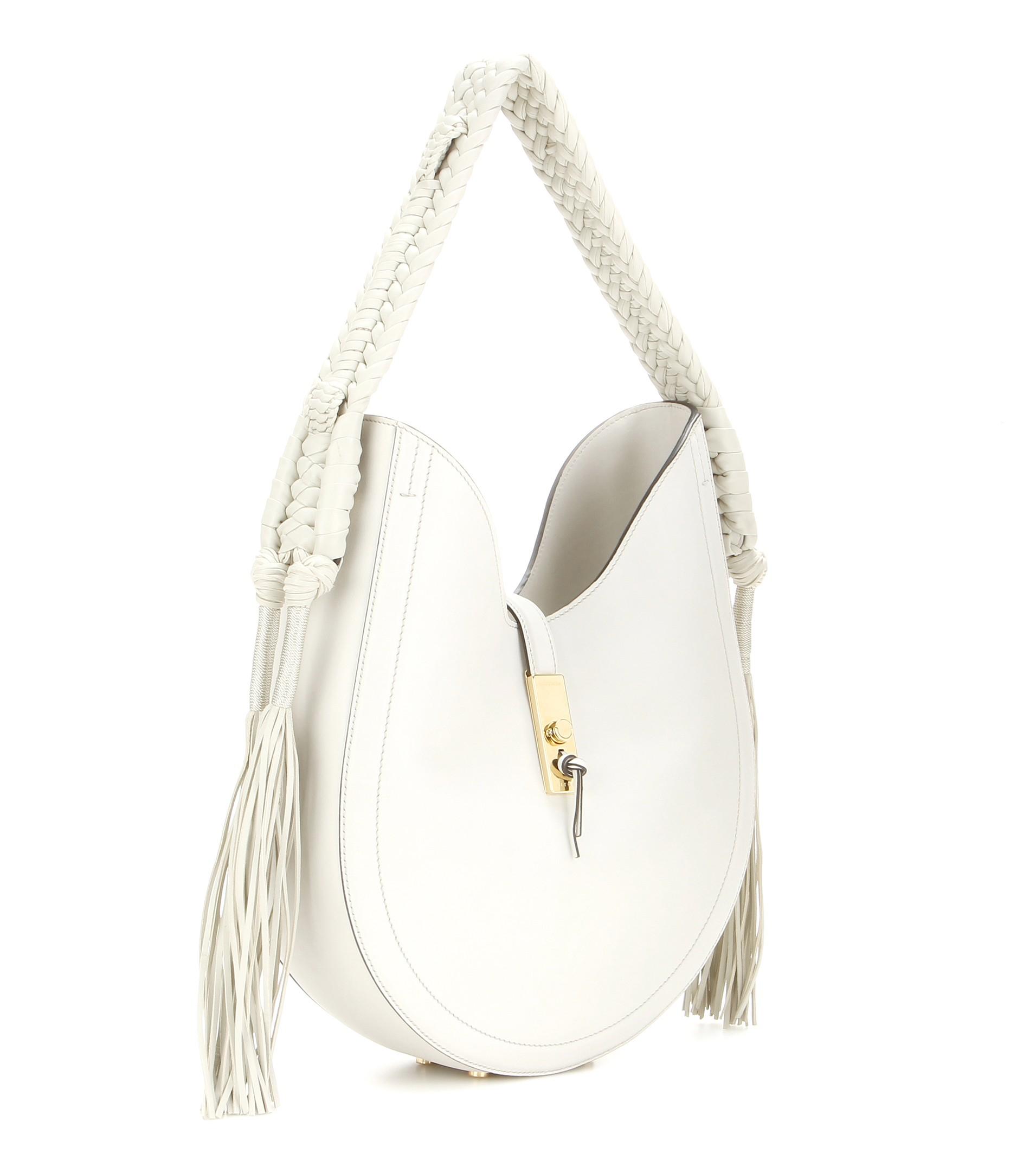 ff7c5a6f16de Lyst - Altuzarra Ghianda Bullrope Hobo Leather Shoulder Bag in White