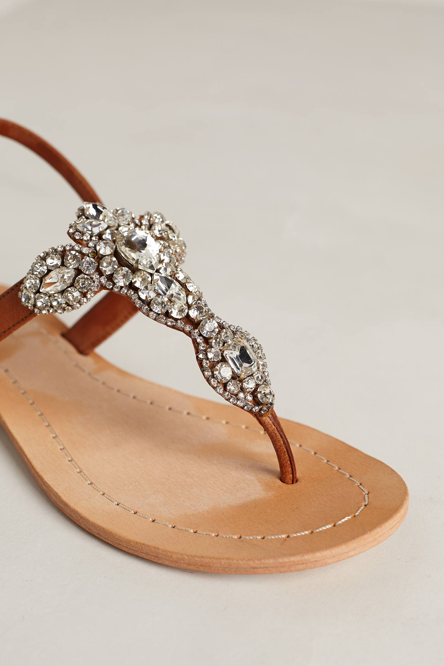 Antik Batik Allegretto Beaded Sandals In Brown Tan Lyst