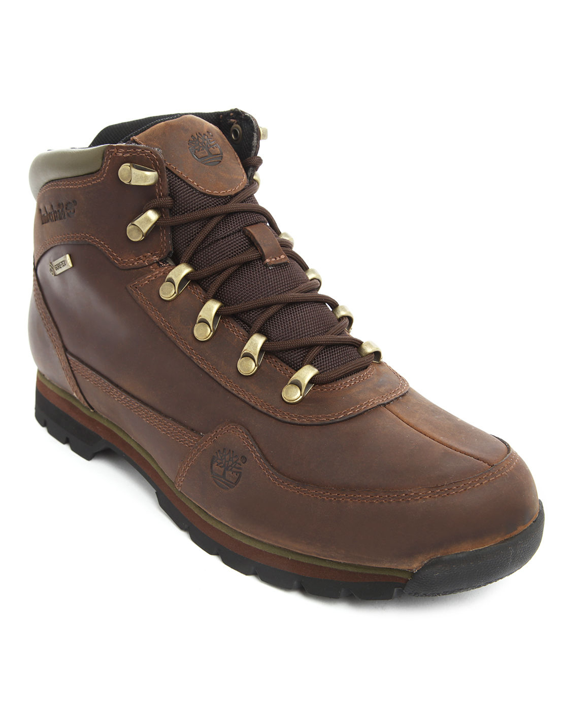timberland hiker tex brown boots in brown for