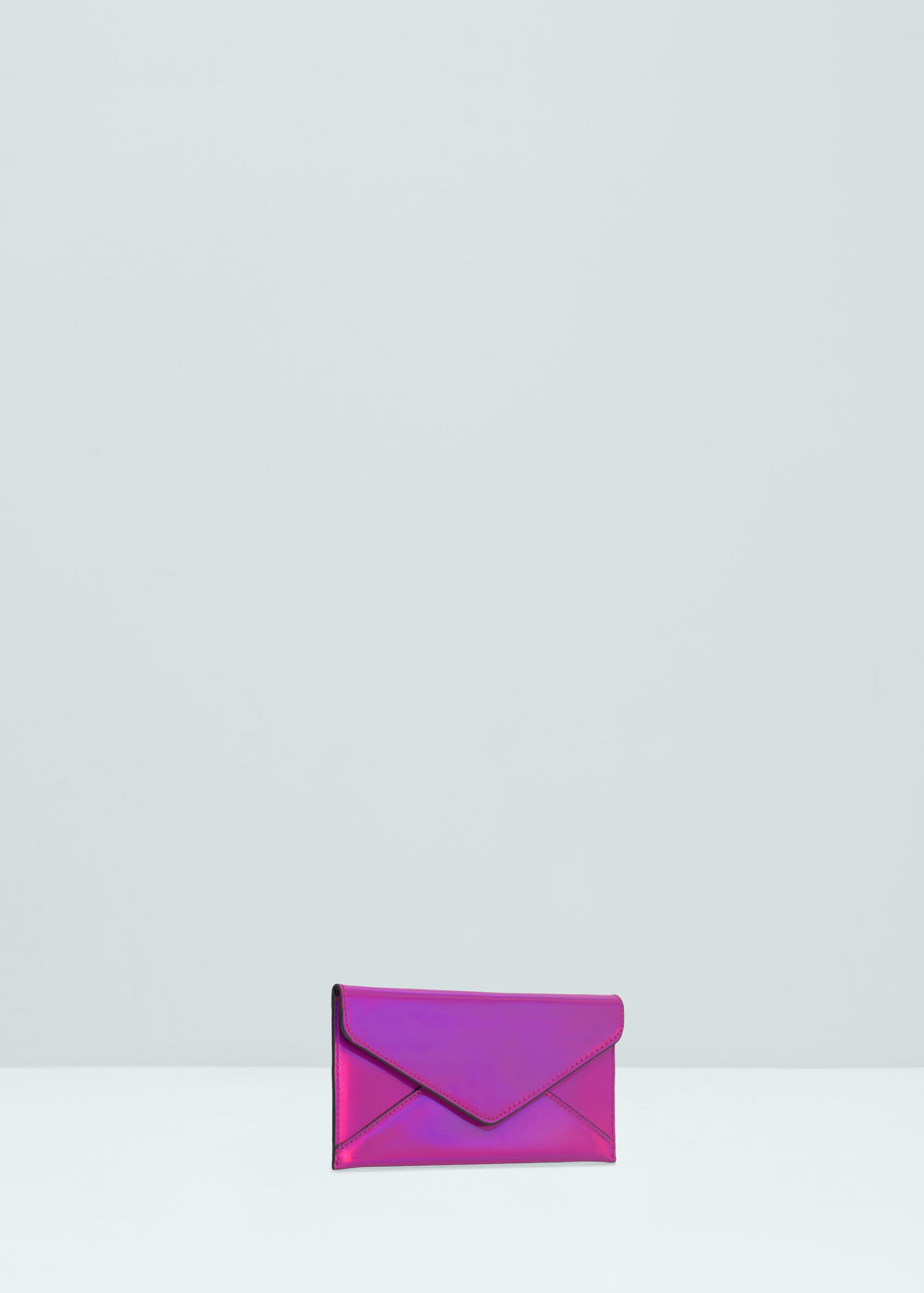 Lyst - Mango Flap Wallet in Purple