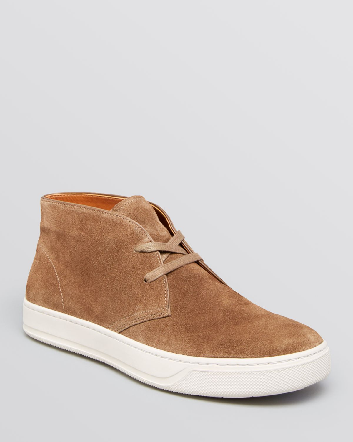 Lyst Vince Abe Sport Suede Chukka Sneakers In Orange For Men