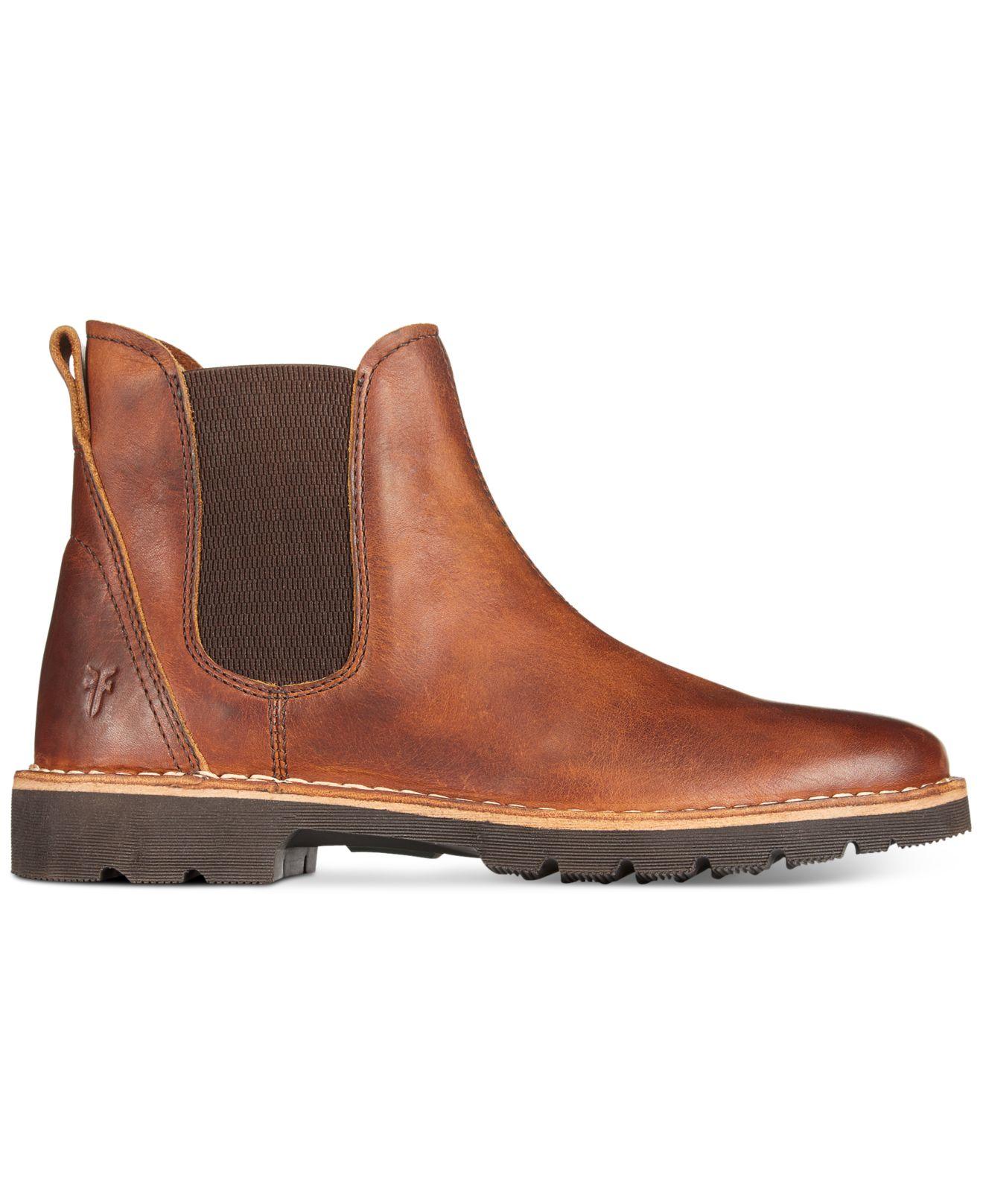 frye holden chelsea boots in brown for men lyst. Black Bedroom Furniture Sets. Home Design Ideas
