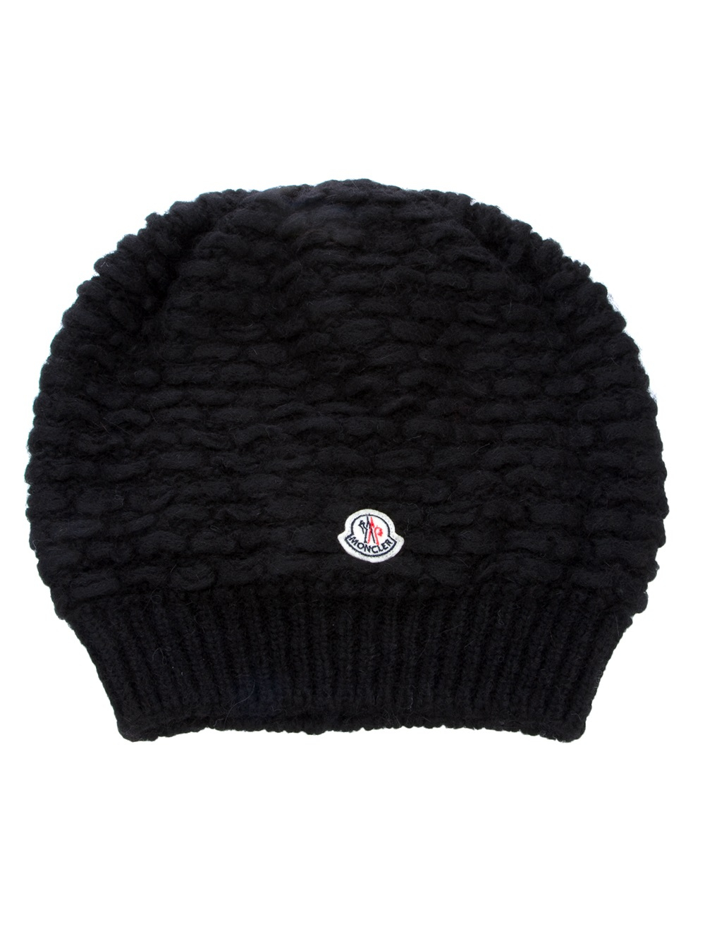 Lyst - Moncler Slouchy Beanie Hat in Black 70e01f84705