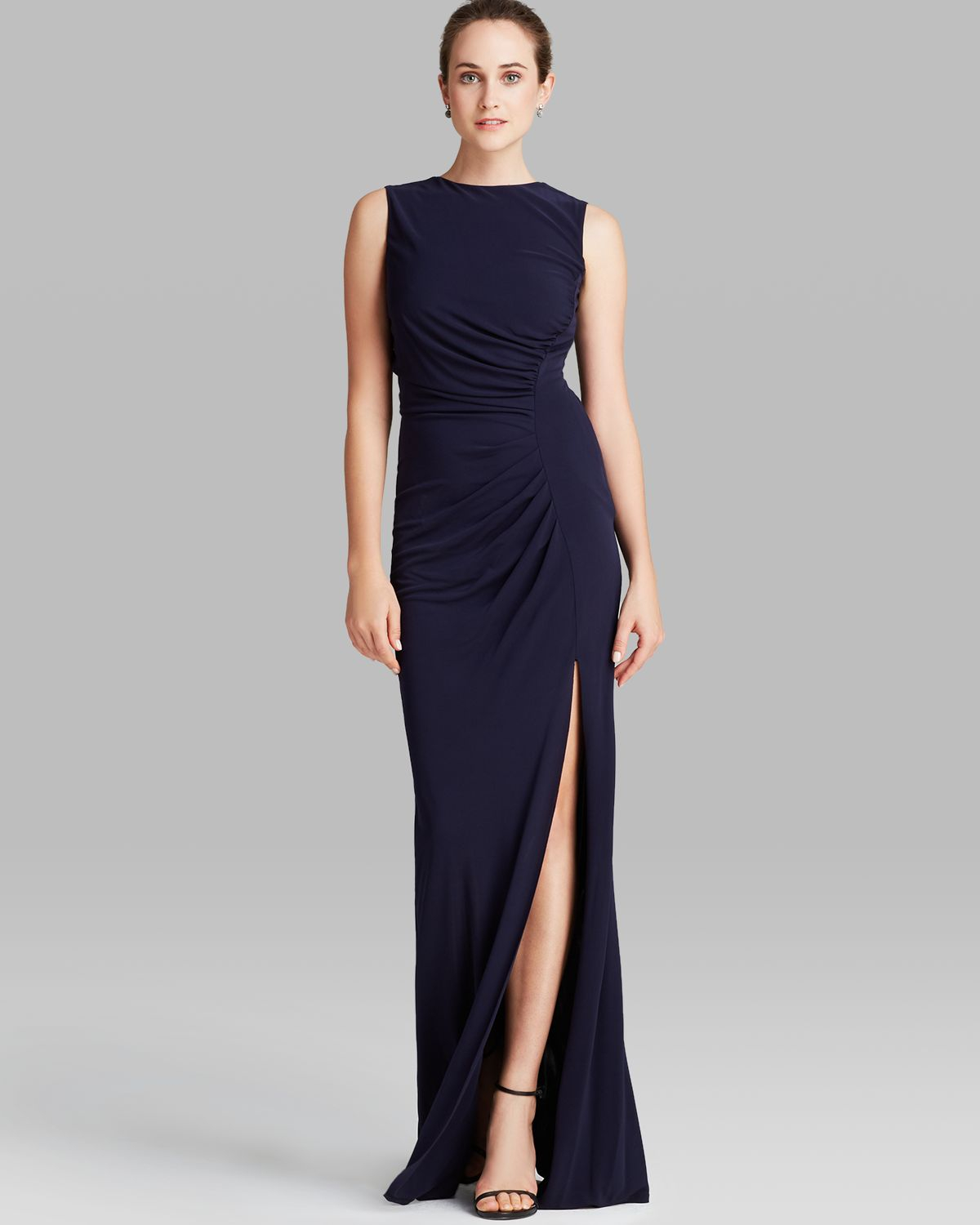 Lyst - Abs By Allen Schwartz Gown - Sleeveless Slit in Blue
