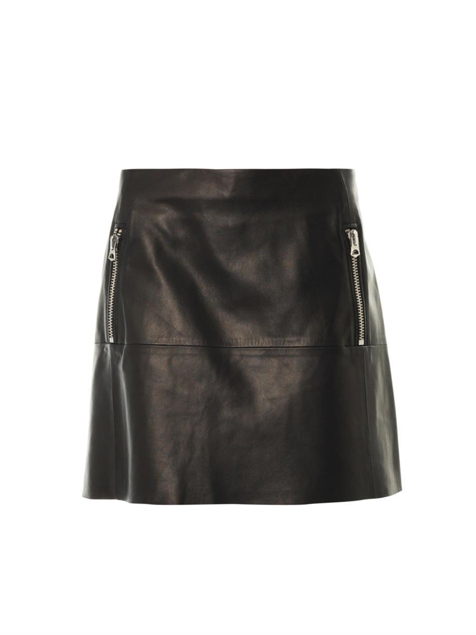 acne studios captation aline leather skirt in black lyst