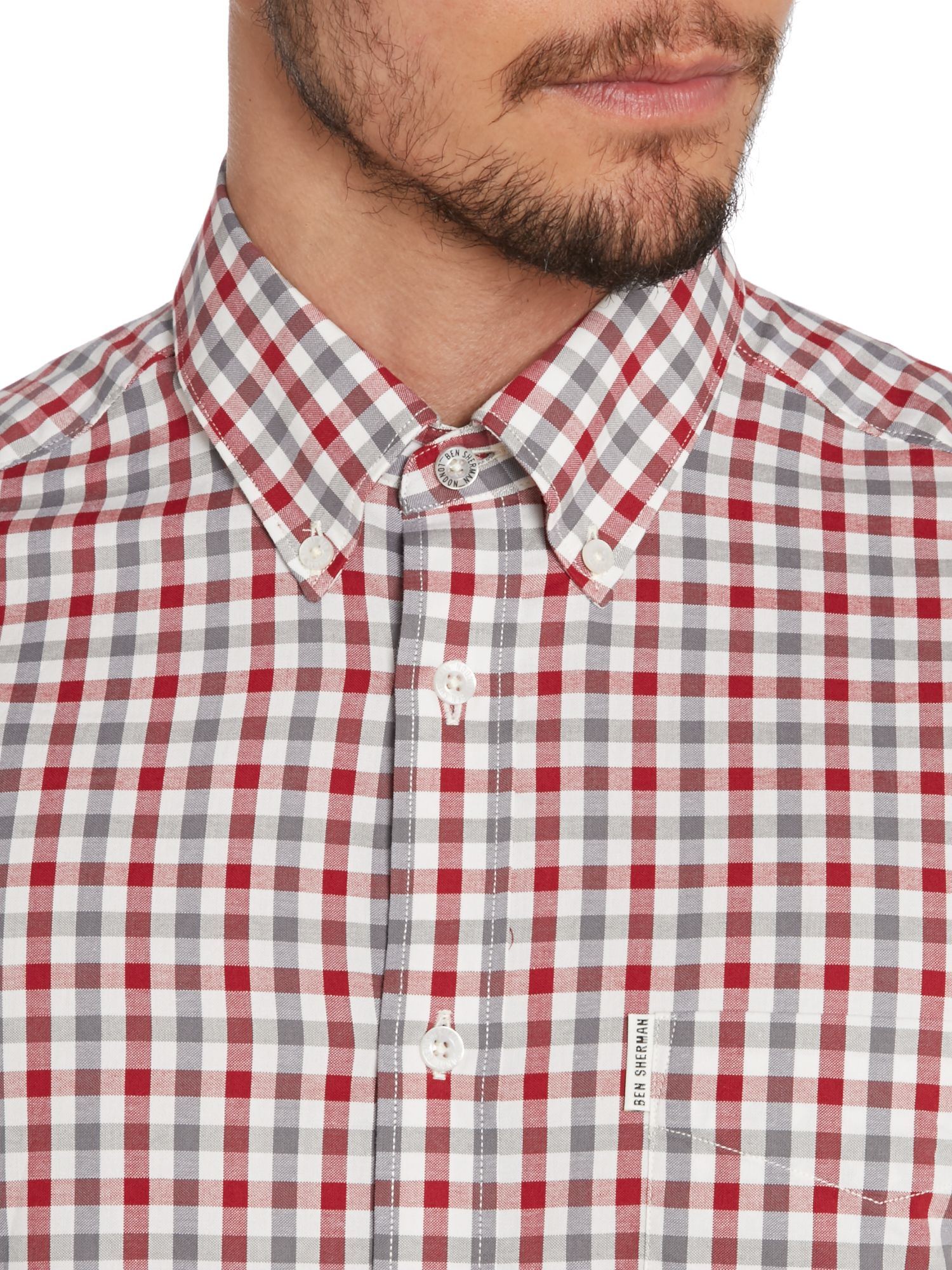 Ben Sherman House Gingham Short Sleeve Regular Fit Shirt