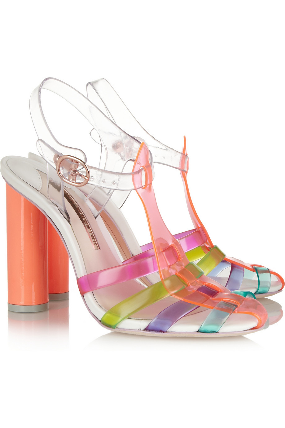 Lyst Sophia Webster Rosa Vinyl And Leather Sandals