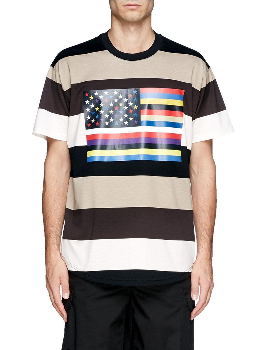 ANDY WARHOL AMERICAN FLAG PRINT T-SHIRT