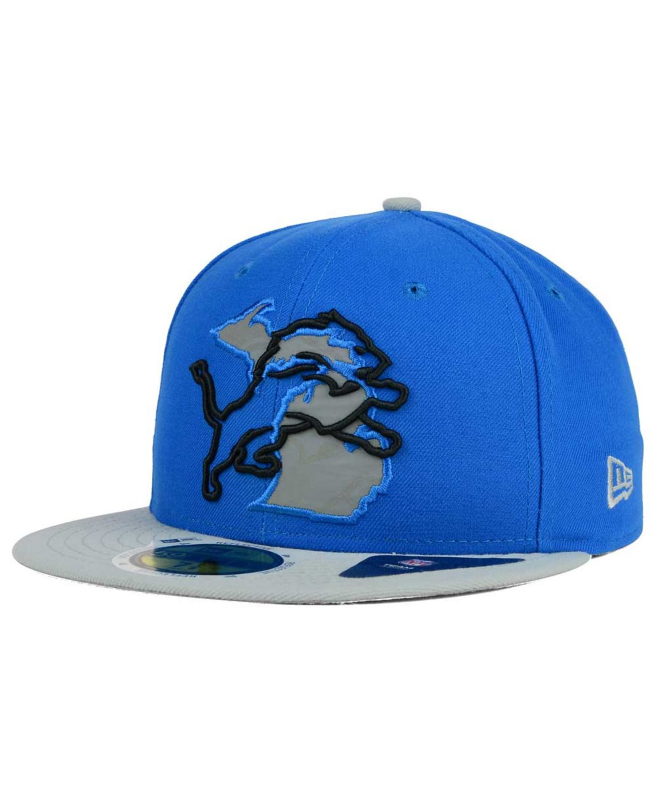 more photos 60060 8f7a3 ... norway germany lyst ktz detroit lions state flective redux 59fifty cap  in blue adf04 5645b a267e