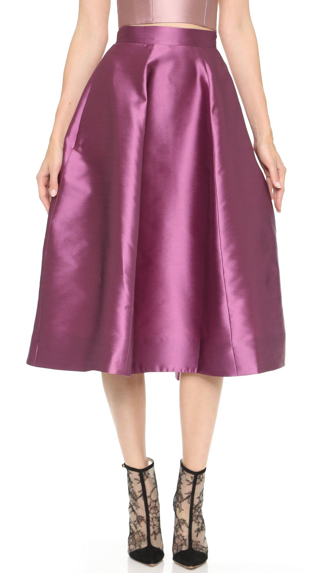 Monique lhuillier Tea Length A-line Skirt - Mauve in Purple | Lyst