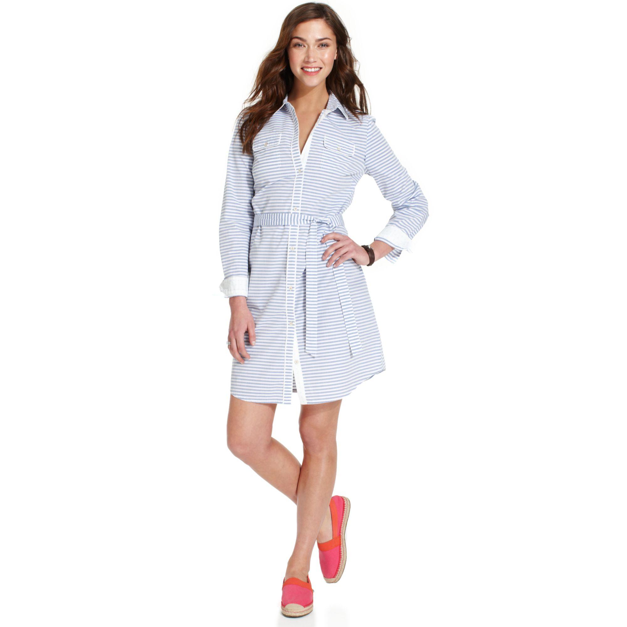 striped shirt dress - Blue Tommy Hilfiger Cheap Sale Purchase Get The Latest Fashion Big Sale Sale Online Discount Hot Sale jZchi