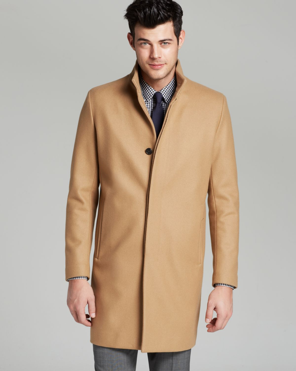 Theory Belvin Vp Voedar Coat in Brown for Men | Lyst