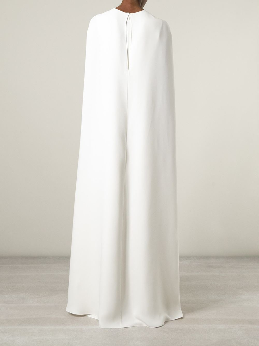 Valentino Cape Style Evening Dress In White Lyst